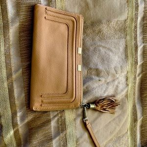 Leather wristlet to clear at $45